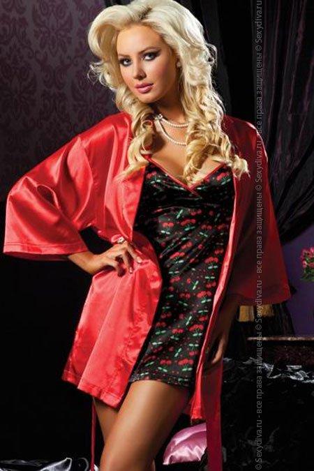 Ночной домашний комплект: халат и сорочка