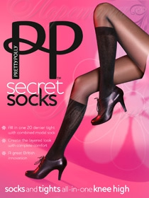 Pretty Polly AQS8 Secret Socks